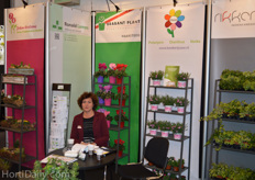 The booth of Ronald Lamers, sales associate to multiple nurseries.