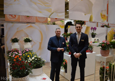 Adwin van Loenen from BM Roses shared a booth with David Stolk from Stolk Brothers.