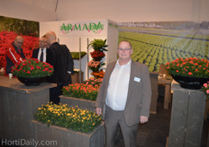 Rene van der Kamp from DecoNova. DecoNova shared a booth with Armada.
