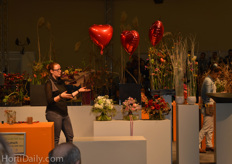 At the Big Spring Show in hall 01 new trends and ideas in floristry for upcoming spring were represented.