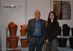 Pablo Avallone and Aukje Mulder from Maceflor.
