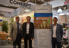 Sven Landschoof, Lenn-Willem Baris and Peter Lindhout from Concept Data Systems.