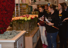 Visitors looking at the varieties of Schreurs.