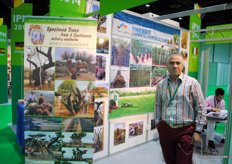 Danilo Bottaro, import- ande exportmanager of Leon Group. The company trades specimen trees from 5 continents worldwide.