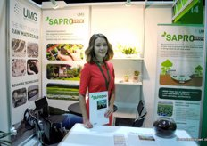 Maria Obukhova, United Minerals Group, tells about the SaproGrow. The product comes from the bottom of a lake and betters the quality of plants when mixed with soil.