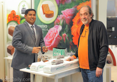 Shan Halamba of Riococo with Glenn Behrman of the Growtainer - GreenTech Agro LLC.