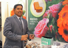 Shan Halamba of Riococo was present at the IPM to inform the floral industry about Riococo's propagation media.