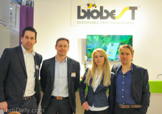The team from Biobest for the first time with there own booth in Hall 3 : Bart Joosten, Dirk Aerts, Alice and Fonny Theunis