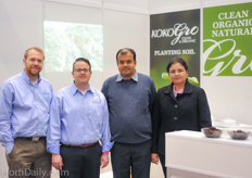 The team of Rainsoil at the booth of KokoGro.