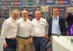 Lorenzo Russo, Jay Honeycutt and George Mooyman of Javo together with Carl van Loon of Powerplants Australia.