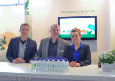 Lowie Weerts, Ronald Valke and Dorien Geentjens of Haifa Fertilizers.