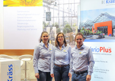 The team from Krass glasshouses ; Marion Strobele, Beatrix Hildenrand and Wolfgang Krass