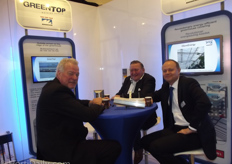 Leo Nugteren of Ridder Systems in conference with Hans van der Valk and Arno van Deursen of Van der Valk Systems