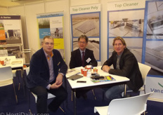 Tom Zwanenburg (Van der Waaij Machinebouw), John Berghman (Batist Aluminium Constructies) and Will Bakker (TST) together in one stand.