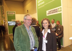 Leo van Staalduinen and Christina Somia of Gartenbau Versicherung