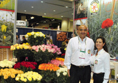 Julio Urrego and Flor Alexis Paez, Rainforest Farms & Bouquets, grower, exporter and importer of roses, carnations, minicarnations and bouquets.