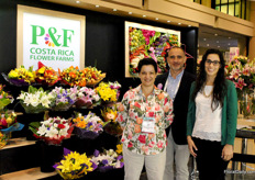 Maria Mora, Gustavo Chinchilla and Laura Loaiciga of the Costa Rican P&F Flower Farms. P&F is sort for Plantas y Flores. Sindse 1986 they focus on producing and exporting fresh cut flowers.