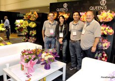 Queen's Bouquet Network imports and distributes over 500 million sterns per year and offers nearly 30 flower types under their product brand Benchmark Growers. On the PMA, they were represented by Susana Vargas, Juan Carlos Garavito, Carlos Bermudez and Michael Adiletto.