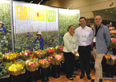 Farm Fresh Flowers Miami is represented by Mark Frank, Rosy Watler and Carlos Mahecha. Their specialty bouquets are ordered and followed easily online.