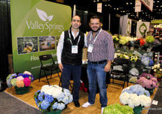 Carlos and Iwan of Valley Springs, a fresh cut flower distributor that specializes in the production of Hydrangeas and Calla Lillie's.