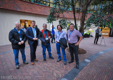 Louis Chapdelaine (ML Aquaponics, Canada)Jan Schutrups (Royal Brinkman), Graeme Smith (iFarm group) Marc Laberge (ML Aquaponics, Canada) and Greg Dutton (iFarm Group Australia).